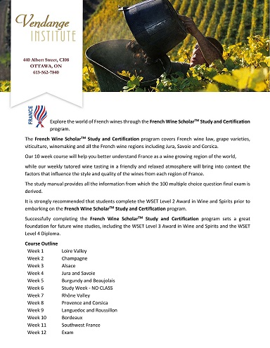 Vendange Institute - French Wine Society
